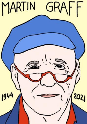 mort de Martin Graff,dessin,portrait,laurent Jacquy