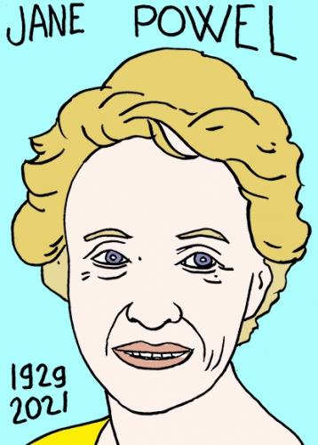 mort de Jane Powell,dessin,portrait,laurent Jacquy