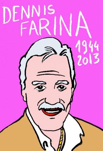 Dennis farina,dessin,portrait,laurent jacquy,art singulier,french outsider,les beaux dimanches,répertoire des macchabées célèbres