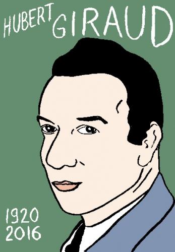 mort d'hubert giraud, dessin, portrait, laurent jacquy,répertoire des macchabées célèbres,mort d'homme,