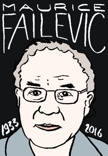 mort de maurice Failevic, dessin, portrait, laurent jacquy,répertoire des macchabées célèbres,mort d'homme,