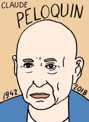 mort de claude Péloquin, dessin, portrait, laurent jacquy,répertoire des macchabées célèbres,mort d'homme,
