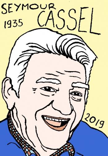 mort de Seymour Cassel, dessin, portrait, laurent jacquy,répertoire des macchabées célèbres,mort d'homme,