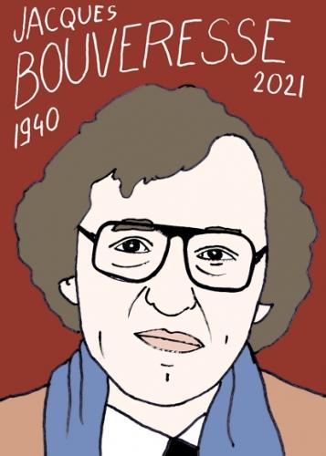 mort de Jacques Bouveresse,dessin,portrait,laurent Jacquy,philosophe