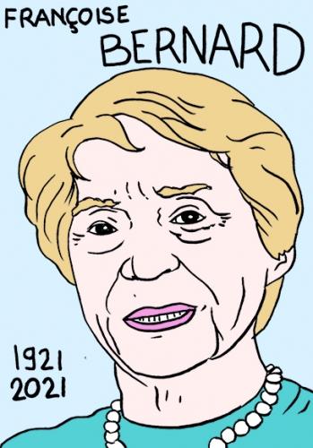 mort de Françoise Bernard,dessin,portrait,laurent Jacquy