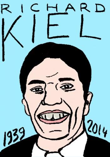 mort de richard kiel,dessin,portrait,laurent jacquy,répertoire des macchabées célèbres