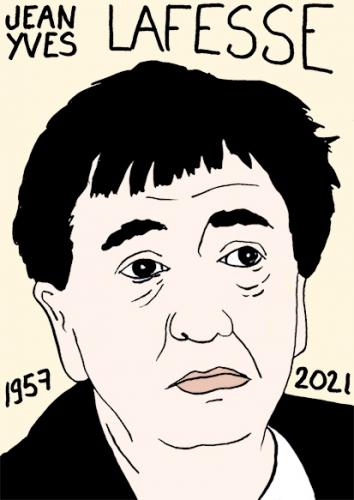 mort de Jean-Yves Lafesse,dessin,portrait,laurent Jacquy
