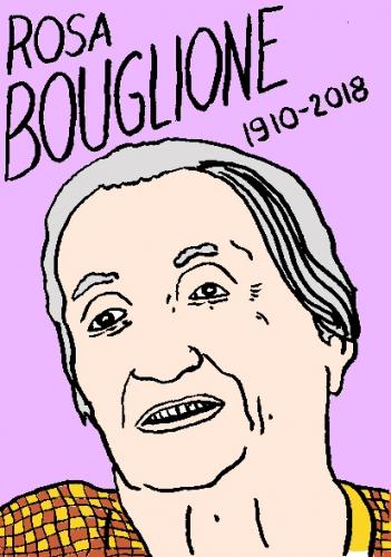 mort de rosa Bouglione, dessin, portrait, laurent jacquy,répertoire des macchabées célèbres,mort d'homme,