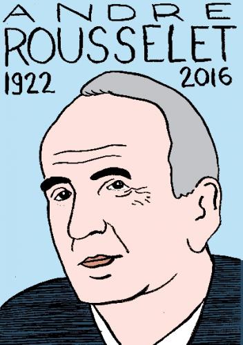 mort d'andré rousselet, dessin, portrait, laurent jacquy,répertoire des macchabées célèbres,mort d'homme,