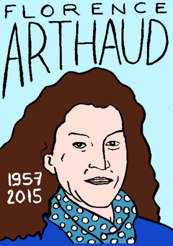 mort de florence arthaud, dessin, portrait, laurent jacquy,répertoire des macchabbées célèbres, mort d(homme