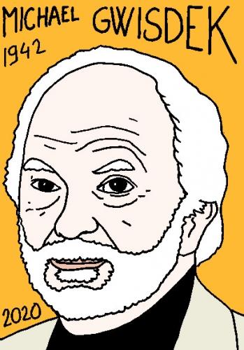 mort de michaelGwisdek, dessin, portrait, laurent jacquy,répertoire des macchabées célèbres,mort d'homme,
