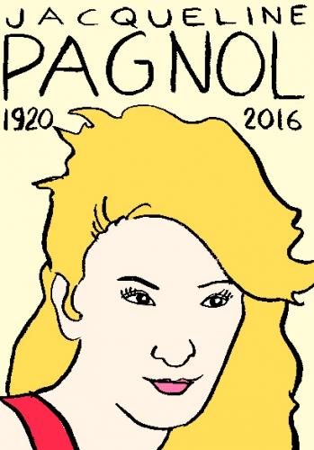 mort de jacqueline pagol, dessin, portrait, laurent jacquy,répertoire des macchabées célèbres,mort d'homme,