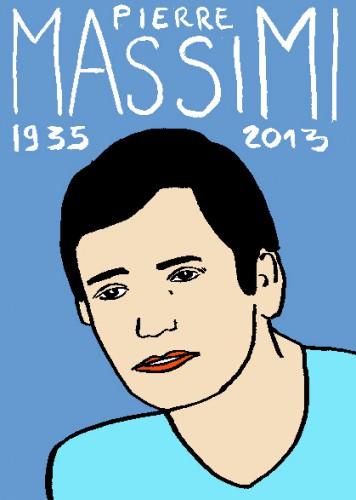 Mort de pierre Massimi,dessin,portrait,laurent jacquy,mort d'homme,répertoore des macchabées célèbres,art modeste