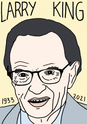 mort de Larry King,dessin,portrait,laurent Jacquy