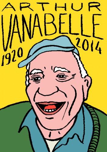 mort d'arthur vanabelle,dessin,portrait,laurent jacquy,répertoire des macchabées célèbres