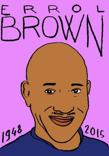 mort d'errol brown, dessin, portrait, laurent jacquy,répertoire des macchabbées célèbres, visage,mort d'homme