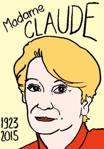 mort de madame Claude. Couson,log lady,, dessin, portrait, laurent jacquy,répertoire des macchabées célèbres,mort d'homme,
