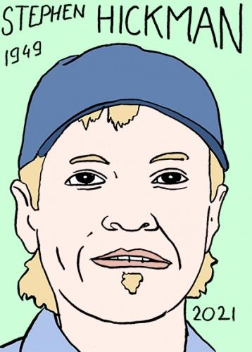 mort de Stephen Hickman,dessin,portrait,laurent Jacquy,poésie