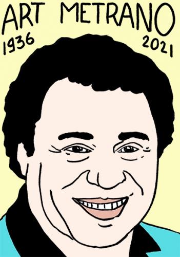 mort d'Art Metrano,dessin,portrait,laurent Jacquy