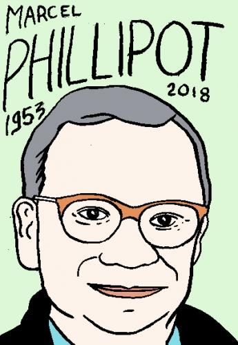 mort de Marcel Phillipot, dessin, portrait, laurent jacquy,répertoire des macchabées célèbres,mort d'homme,