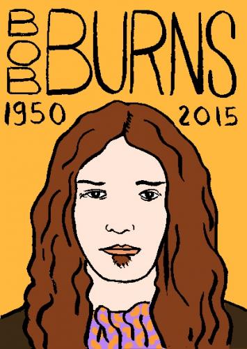mort de Bob Burns, dessin, portrait, laurent jacquy,répertoire des macchabbées célèbres, visage,mort d'homme