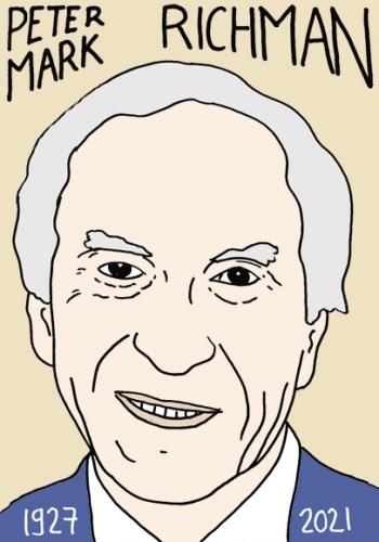 mort de Peter Mark Richman,dessin,portrait,laurent Jacquy