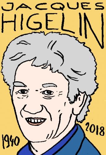 mort de Jacques Higelin, dessin, portrait, laurent jacquy,répertoire des macchabées célèbres,mort d'homme,