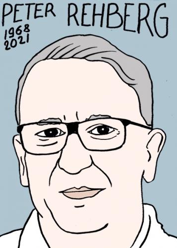 mort de Peter Rehberg,dessin,portrait,laurent Jacquy