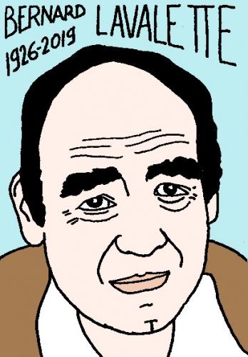mort de Bernard Lavalette, dessin, portrait, laurent jacquy,répertoire des macchabées célèbres,mort d'homme,