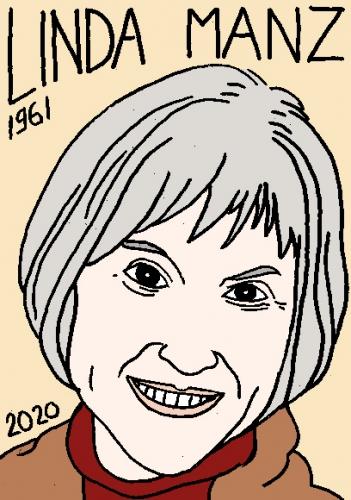 mort de Linda Manz, dessin, portrait, laurent jacquy,répertoire des macchabées célèbres,mort d'homme,