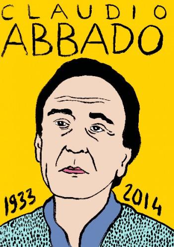 mort de claudio abbadi,dessin,portrait,laurent jacquy,mort d'homme,répertoire des macchabées célèbres,art modeste