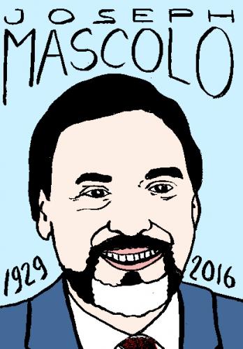 mort de joseph mascolo, dessin, portrait, laurent jacquy,répertoire des macchabées célèbres,mort d'homme,