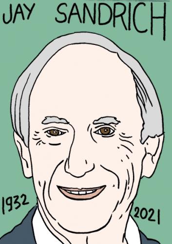mort de Jay Sandrich,dessin,portrait,laurent Jacquy