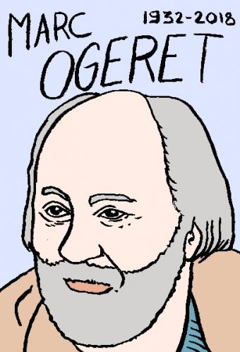 mort de marc ogeret, dessin, portrait, laurent jacquy,répertoire des macchabées célèbres,mort d'homme,