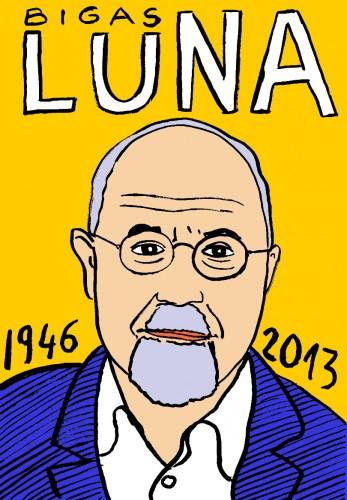 Bigas Luna,portrait,dessin,Laurent Jacquy,mort d'homme,Les beaux dimanches,art singulier,french outsider