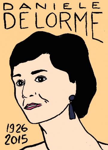 mort danièle delorme, dessin, portrait, laurent jacquy,répertoire des macchabées célèbres,mort d'homme,