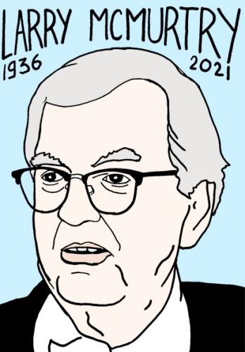 mort de Larry McMurtry,dessin,portrait,laurent Jacquy,