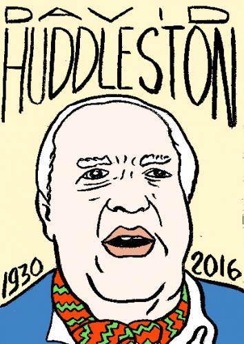 mort de david huddlestone, dessin, portrait, laurent jacquy,répertoire des macchabées célèbres,mort d'homme,