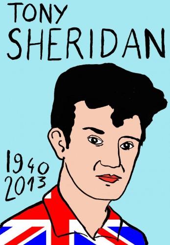 Tony Sheridan,Portrait,dessin,laurent Jacquy,french Outsideur,Célébrité,mort,répertoire des macchabées célèbres,décés,mort d'homme,illustrateur,illustration,Les Beaux Dimanches