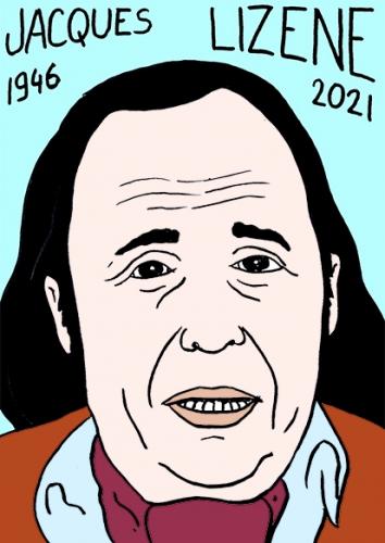 mort de Jacques Lizène,dessin,portrait,laurent Jacquy