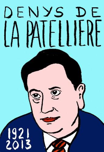 Denys de La Patellière,dessin,portrait,Laurent Jacquy,art modeste,art singulier,les beaux dimanches,répertoire des macchabées célèbres