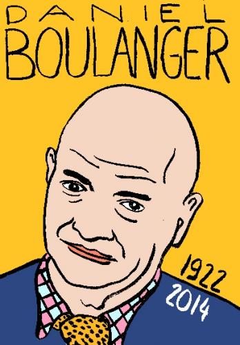 mort de Daniel Boulanger,dessin,portrait,laurent jacquy,répertoire des macchabées célèbres