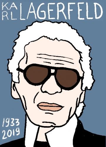 mort de Karl Lagerfeld, dessin, portrait, laurent jacquy,répertoire des macchabées célèbres,mort d'homme,