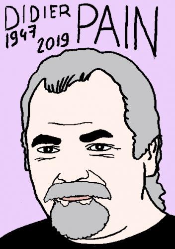 mort de Didier Pain, dessin, portrait, laurent jacquy,répertoire des macchabées célèbres,mort d'homme,