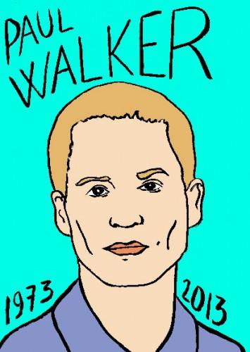 mort de paul walker,dessin,portrait,laurent jacquy,mort d'homme,répertoire des macchabées célèbres,art modeste,cinéma,art singulier,les beaux dimanches