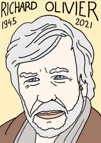 mort de Richard Olivier,dessin,portrait,laurent Jacquy