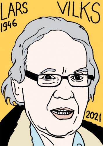 mort de Lars Vilks,dessin,portrait,laurent Jacquy