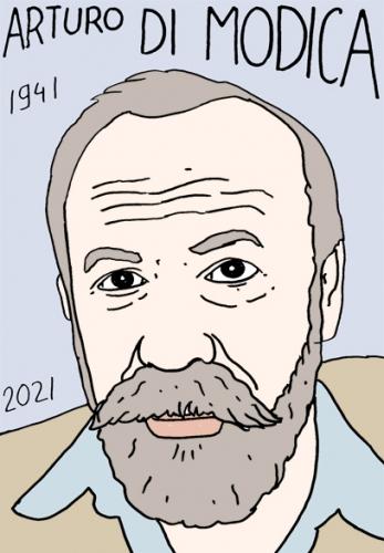 mort de Artura Di Modica,dessin,portrait,laurent Jacquy