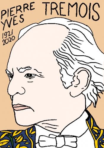 mort de Pierre-Yves Trémois, dessin, portrait, laurent jacquy,répertoire des macchabées célèbres,mort d'homme,