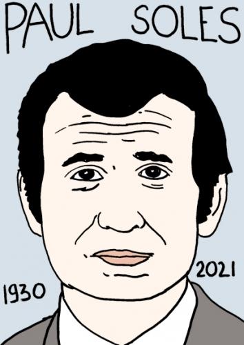 mort de Paul Soles,dessin,portrait,laurent Jacquy
